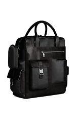 Piquadro Frame Black Vertical Computer Bag with 2 handles & mob. case CA1745FR/N