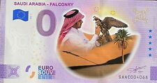 BILLET 0  EURO SAUDI ARABIA FALCONRY ANNIVERSARY  COULEUR  2021  NUMERO DIVERS