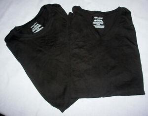 2 Mens sz M Adam Levine 222 Teeshirt short sleeve Black100% cotton V + Crew neck