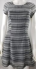 Divided by H&M Womens Juniors Size 6 Tribal Black White Baby Doll Dress