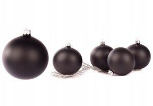 Set 10cm x 4pcs Handmade Black Mat Glass Baubles Christmas Tree Decorations