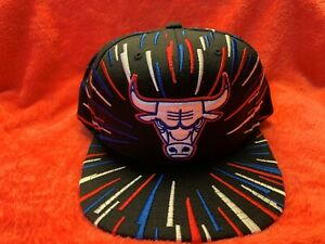 Chicago Bulls Mitchell & Ness snapback hat, Brand New! USA colored accents! RARE