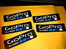 "5 Genuine GoPro HERO ACTION CAMERA Hi Gloss 4"" X 1 1/8"" LOGO STICKER Decal Car"