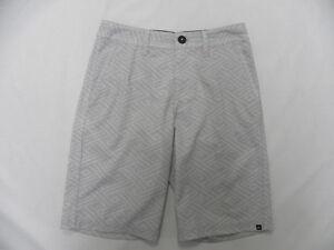 Quiksilver Boys Metric Gray Swimwear Amphibian Walkshorts Sz 26