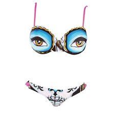 NWT Iron Fist Ladies Lady Killer Bikini Set Top Bottom Bathing Suit Swim XLarge