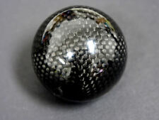 VMS 8X1.25MM THREADED ROUND CARBON FIBER SHIFT KNOB AUTOMATIC TRANSMISSION LEVER