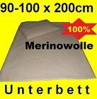 Matratzenschoner Unterbett Matratzenauflage Lammwolle Merinowolle  90cm 100cm    günstig