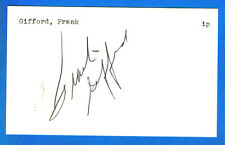 FRANK GIFFORD autographed Index Card   NY Giants