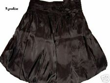 ♥♥♥ NEW Auth ORANGE Black Satin Balloon Skirt S ♥♥♥