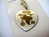 Vintage Keychain TEXAS Heart Design