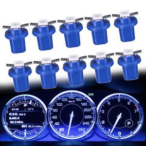 10x T5 B8.5D Car Dashboard Instrument Interior LED Light Bulbs Accessories