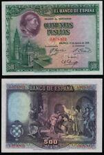 500 Pesetas año 1928. Cardenal Cisneros. Sin Serie 1979852. PLANCHA NO CIRCULADO