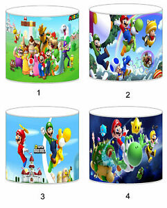Super Mario Bros Lampshade Ideal To Match Bedding Duvets Curtains Cushion Covers