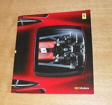 Ferrari 360 Modena Coupe Sales Brochure 1999-2002