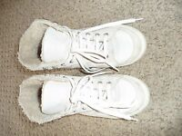 RIVER ISLAND Leather & Suede High Tops Pumps Trainers EUR 37 UK 4