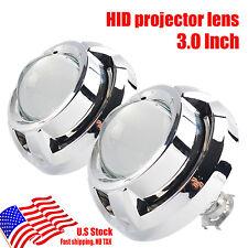"""2PCS AUTO 3 """"Mini HID Bi-Xenon Headlight Bulb Projector Lens H1 H4 H7Shroud Kit"""