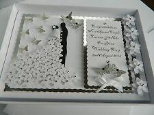 Handmade Personalised Card Wedding Day Anniversary Engagement Gift Box 37