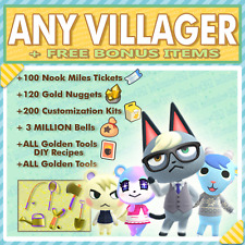 Raymond Marshal Audie ANY Animal Crossing New Horizons Villager + FREE BONUS