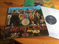 THE BEATLES SGT. PEPPERS LONELY HEARTS CLUB  LP & INSERT BLACK SILVER 1 BOX EMI