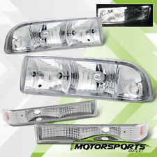 1998-2004 Chevy S10/Chevy Blazer Chrome Headlights+Bumper Lamps Assembly