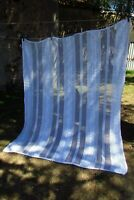 Beautiful Antique French Hand Crafted Cotton Crochet Curtain / Throw / 5ft x 6ft