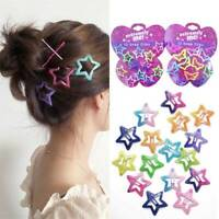 12P Boutique Girl Baby Kids Hair Clips Snap Hairpin Grip Barrettes Candy Color,