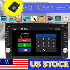 GPS Navigation 2Din HD Car Stereo DVD CD Player Bluetooth FM Radio Free Map USB