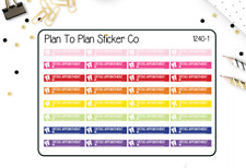 1240~~Ortho Braces Appointment Reminder Planner Stickers.