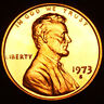 1973 S GEM BU PROOF Lincoln MemoriaL BRILLIANT UNCIRCULATED PENNY US COIN PF