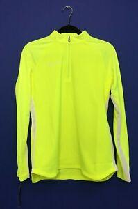 Nike Soccer Academy 19 Drill 1/4 Zip Pullover Neon Yellow Shirt Size Medium