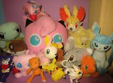 HUGE Pokemon Digimon JigglyPuff Mew Charmander Squirtle Plush Stuffed Toy Lot!