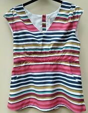 Joules Cotton Lined Striped Zip Back Summer Top 10