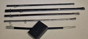 Late 19C antique sword and sabre scabbards lot of 5 Swedish and more AS IS