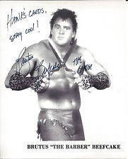Brutus Beefcake WWE Personalized Autograph