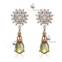 18k yellow gold gf made with SWAROVSKI crystal fancy fashion stud earrings