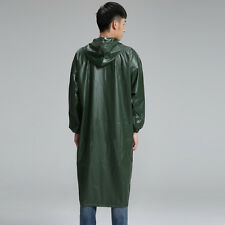 Siamese High Elastic Long Section Of Thick Raincoat Poncho Adult Outdoor Windbre