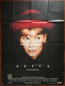 Poster Alice Mia Farrow Woody Allen William Hurt 47 3/16x63in