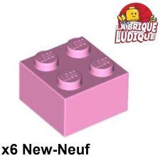 Lego - 6x Brique Brick 2x2 rose/bright pink 3003 NEUF