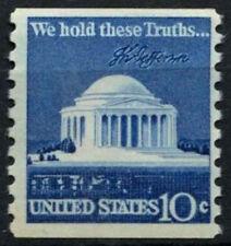 EE. UU. 1973 SG#1520, 10c Jefferson Memorial Definitivos estampillada sin montar o nunca montada sello de bobina #D55482