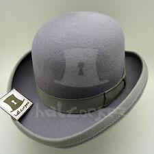 CLASSIC Wool Felt Boys Dura Bowler Top Hat Kids Derby Tuxedo | 52cm | Grey