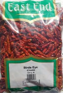 Pure Whole Dried BIRDS EYE CHILLI Chillies, 100g - 400g