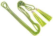 1 Green Colour Long Bohemian Double Layer Tassel Hollow Chain Necklace -#B327