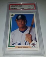 1991 Upper Deck #11 Bernie Williams Rookie Card RC Graded PSA 8 NM-MINT Yankees