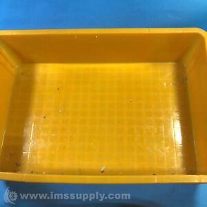"Yellow Storage Bin, 24"" x 16"" x 7"" USIP"