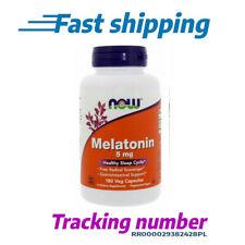 MELATON NOW FOODS 5 mg 180/360 Veg Kapseln Schlaflosigkeit Schlaftabletten FAST