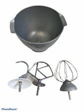 Kenwood Chef - Attachment Bundle - 4.6L Bowl Whisk Mixer Dough Hook