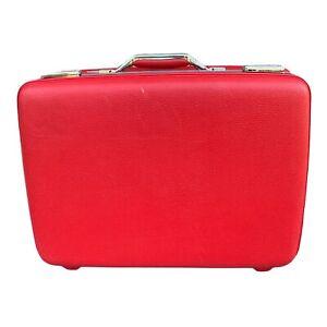 Vintage Red American Tourister Tiara Hardside  Suitcase Handmaids Tale FREE SHIP