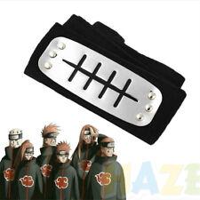 Naruto Headband Kakashi Sasuke Leaf Village Konoha Ninja Cosplay Black Headband