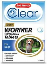 Bob Martin Clear 3-in-1 Wormer Tablets for Dogs 2/4 packs