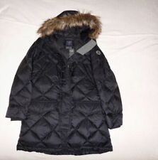 Womens Abercrombie & Fitch Water Resistant Quilted Long Coat Down Jacket Size L